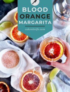 Spicy blood orange margarita Pinterest graphic