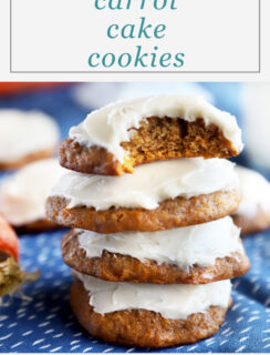 Pinterest graphic for carrot cake cookies