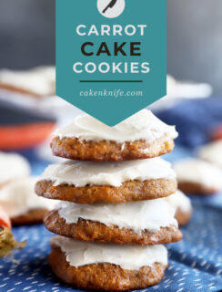 Carrot Cake Cookies Pinterest image