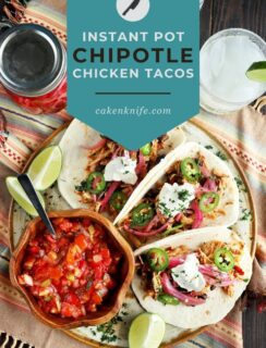 Pinterest image chipotle chicken tacos
