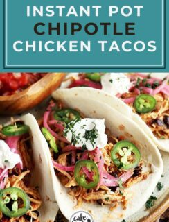 Instant Pot Chipotle Chicken Tacos Pinterest graphic
