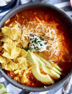 Instant Pot tortilla soup thumbnail image