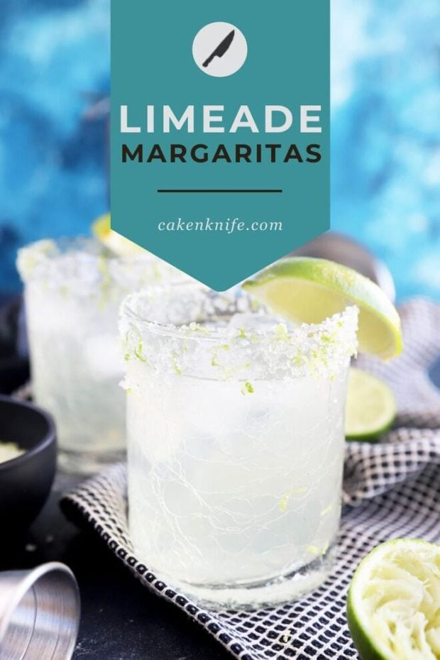 Limeade margaritas recipe Pinterest graphic
