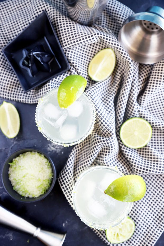Overhead photo of limeade margaritas picture