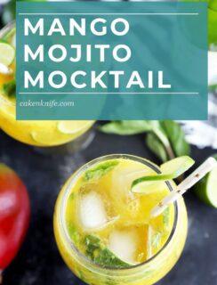 Mango mojito mocktail recipe Pinterest image
