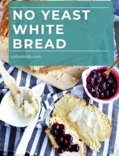 No yeast white bread pinterest image