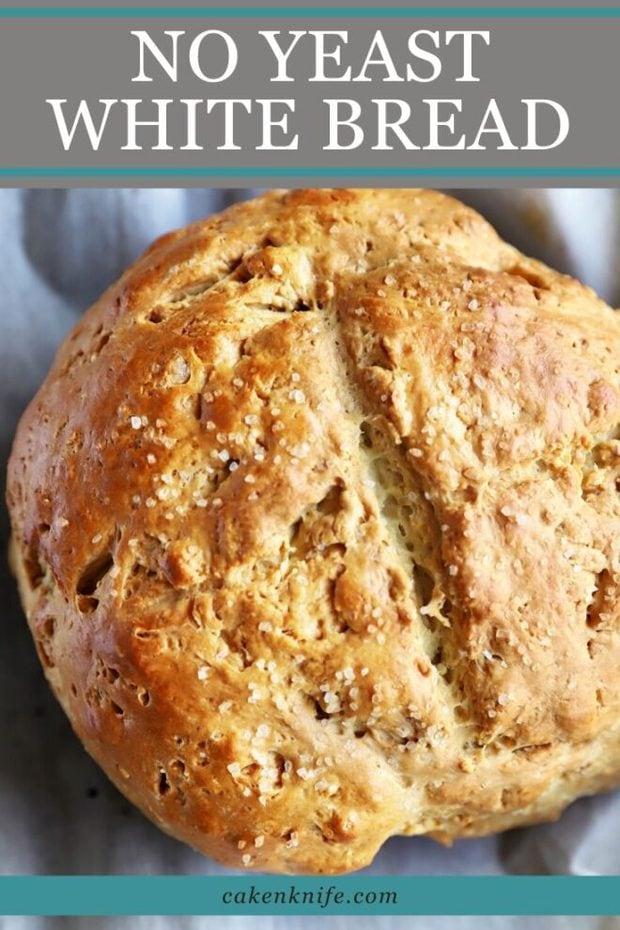 Pinterest graphic white soda bread