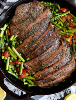 Overhead thumbnail image for one pan steak