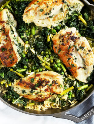 Thumbnail of one skillet lemon goat cheese stuffed chicken