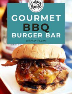 BYO Gourmet BBQ Burger Bar Pinterest Image