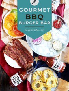 Gourmet BBQ Burgers Pinterest Image