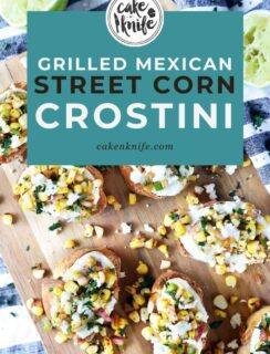 Grilled Mexican Street Corn Crostini Pinterest Image