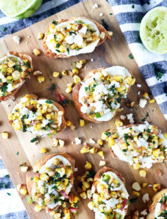 Grilled Mexican Street Corn Crostini picture