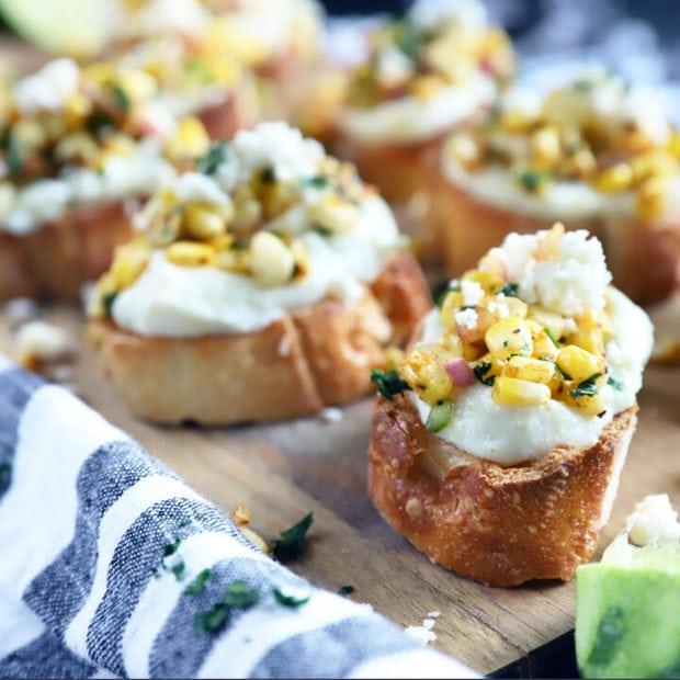 Grilled Mexican Street Corn Crostini thumbnail