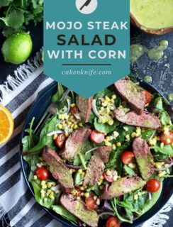 Mojo Steak Salad with Grilled Corn Recipe Pinterest Image