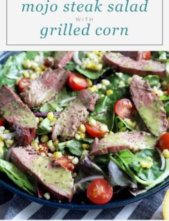 Mojo Steak with Corn Pinterest Graphic