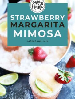Strawberry margarita mimosa Pinterest image