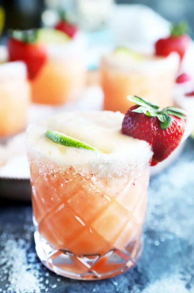 Photo of strawberry margarita cocktail
