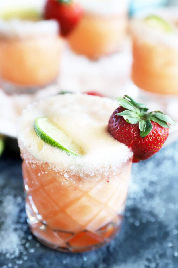 Strawberry margarita mimosa photo