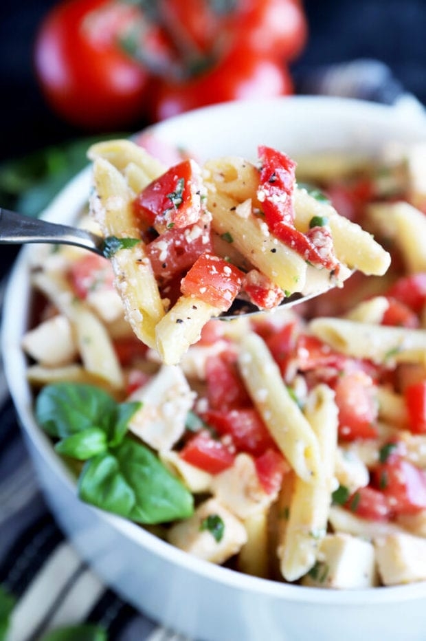 Spoonful of summer pasta salad image