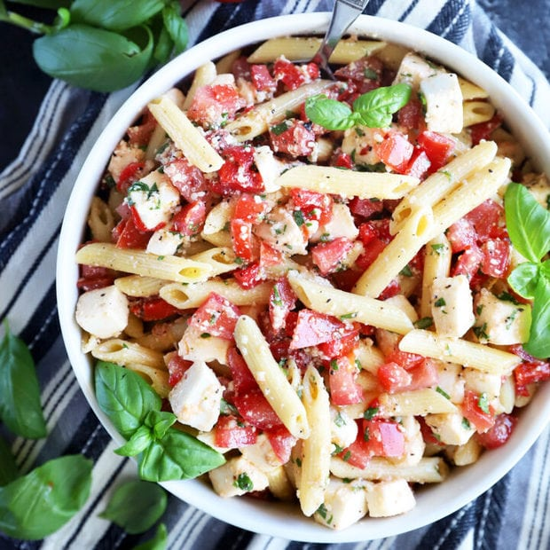 Summer lemon pasta salad thumbnail image