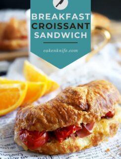 Breakfast Croissant Sandwich Pinterest Image