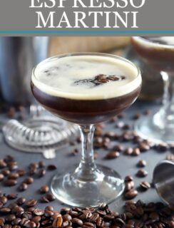 Espresso martini Pinterest image