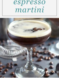 Espresso Martini Image for Pinterest