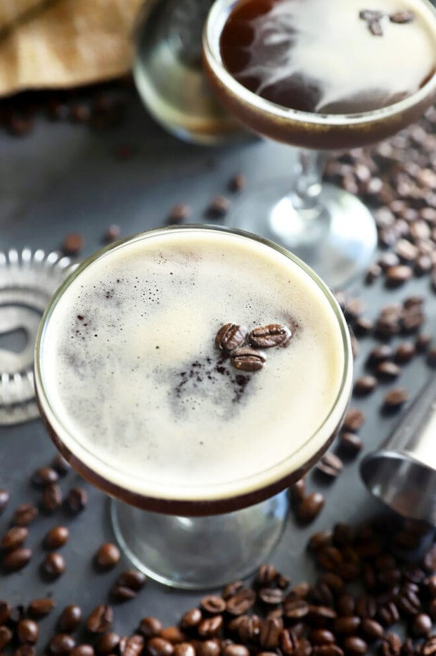 Coffee martini in a glass picture