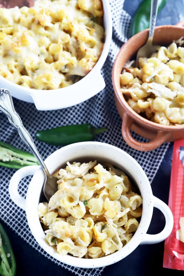 Havarti mac and cheese in a bowl picture