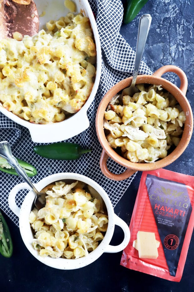 Baked mac and cheese in bowls image