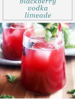 Blackberry Vodka Limeade Pinterest Image