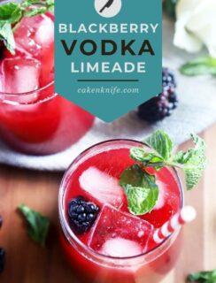 Blackberry Vodka Limeade Pinterest Photo