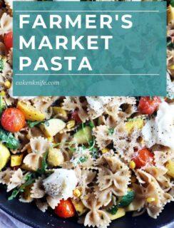 Farmer's Market Pasta Pinterest Photo