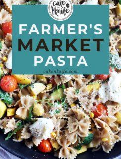 Farmer's Market Pasta Pinterest image