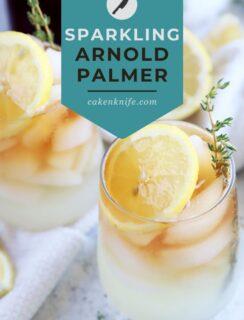 Sparkling arnold palmer recipe Pinterest image