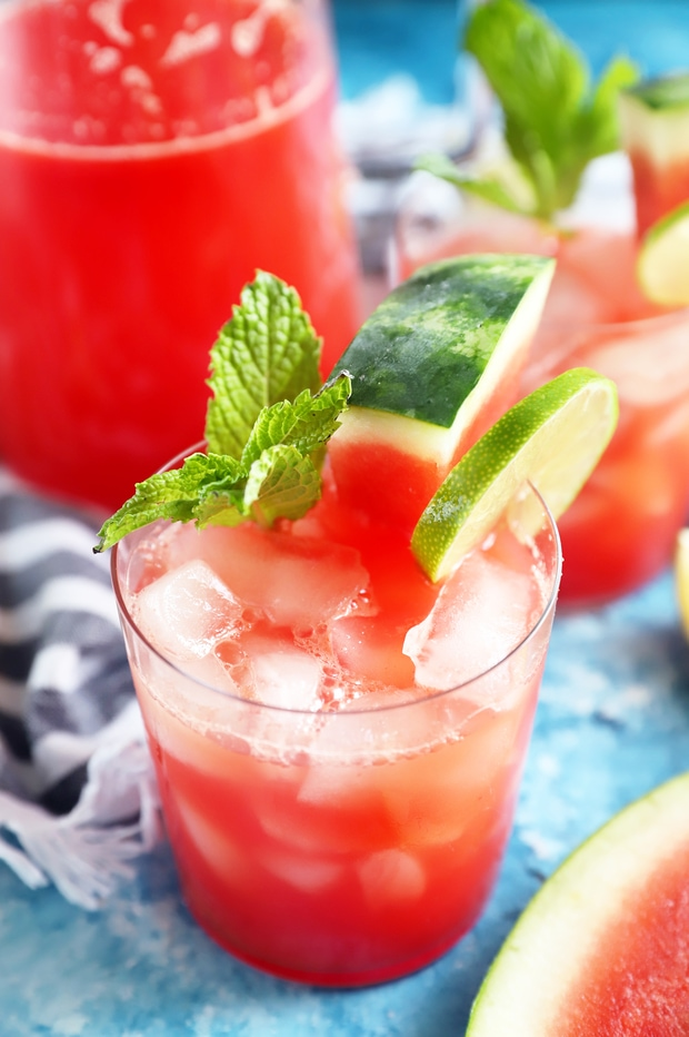 Watermelon Lime Agua Fresca Image in a glass