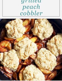 Grilled Peach Cobbler Pinterest Image