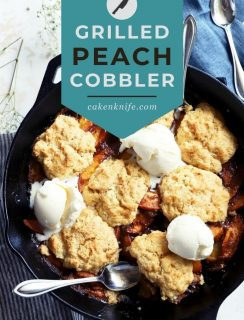 Grilled Peach Cobbler Pinterest Picture