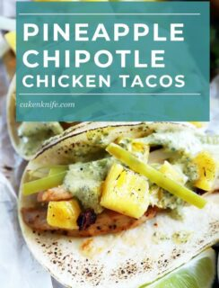 Chipotle Chicken Tacos Sheet Pan Pinterest Image