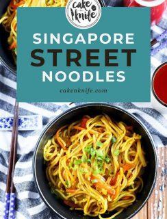 Singapore Street Noodles Pinterest Image