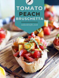 Peach bruschetta Pinterest image
