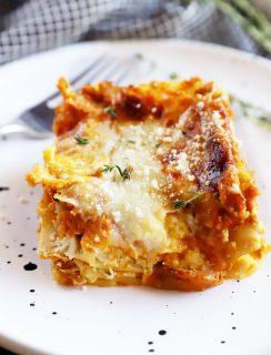 Pumpkin lasagna on a plate image