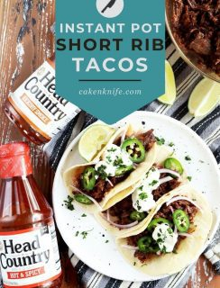Instant Pot BBQ Short Rib Tacos Pinterest Picture
