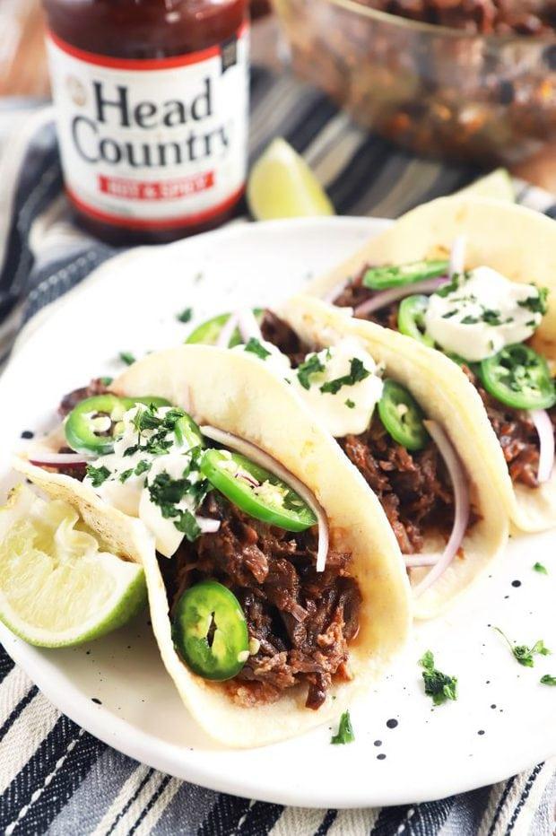 head country bar-b-q tacos image