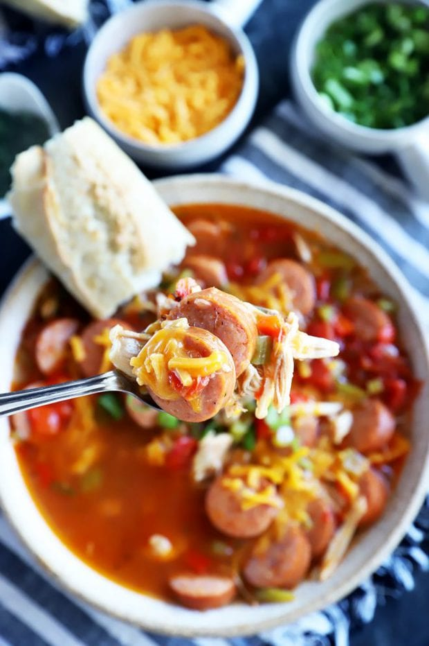Spoon of creole soup image