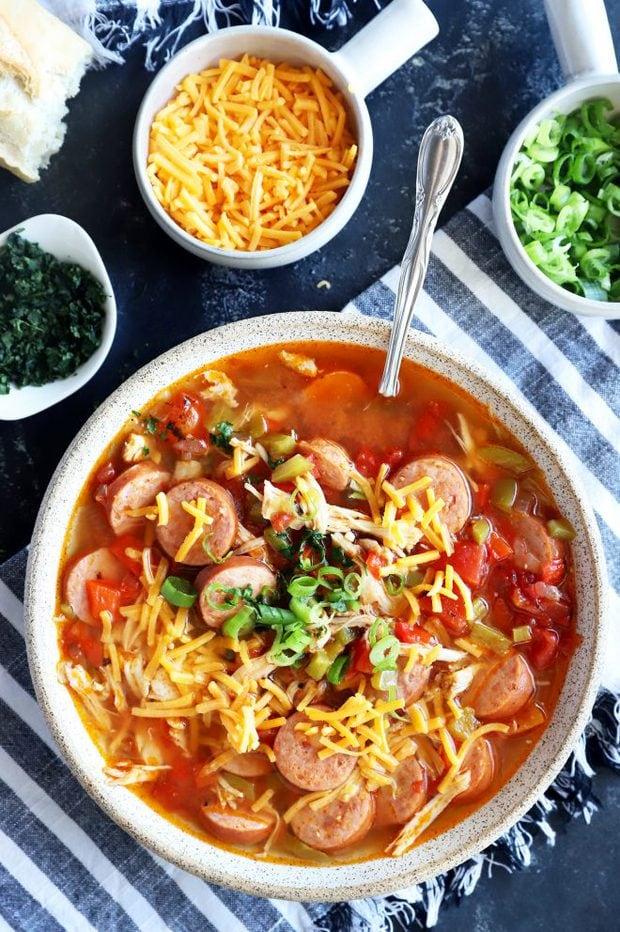 Creole soup image overhead