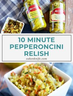 Pepperoncini Relish Pinterest Graphic