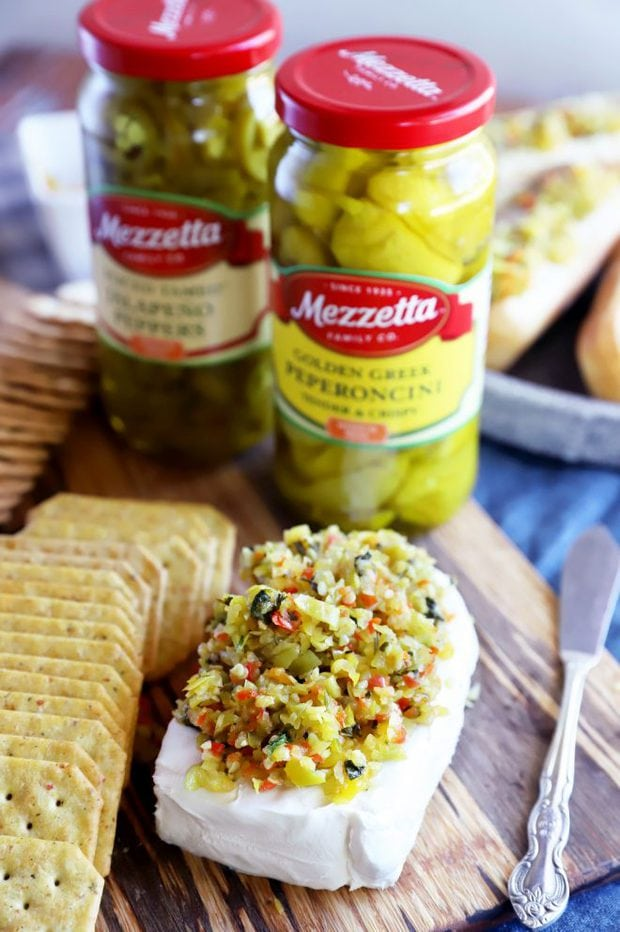 Cream cheese appetizer with Mezzetta image