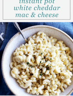 Instant Pot White Cheddar Mac and Cheese Pin Image